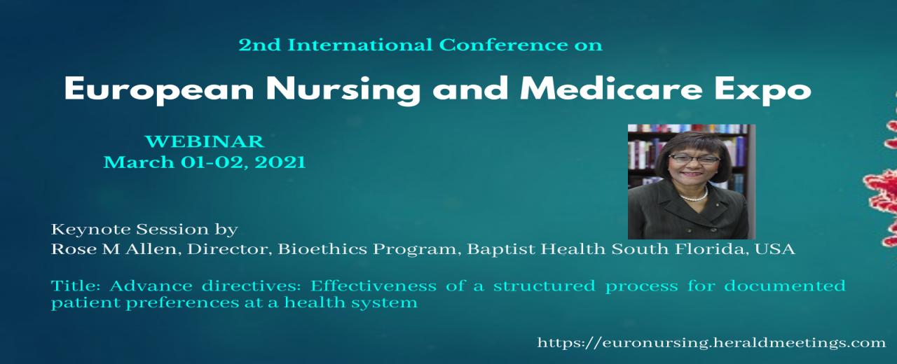 Euro Nursing webinar 2021 | Rose Allen